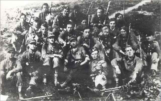 "Narodowe Sily Zbrojne -National Armed Forces unit under command of Captain Waclaw Piotrowski, nom de guerre ""Cichy"" = Lublin area, 1943"